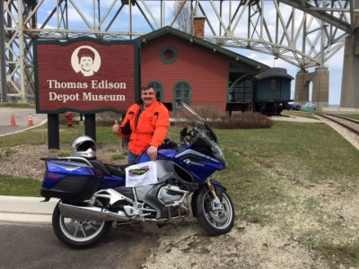 From TX to MI and back, 2,600 miles, plus earned a Saddlesore 1000. Great job Brett.