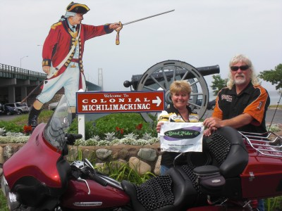 Tonia n Dennis Manning Two Up from Florida to Mackinaw Island Michigan.